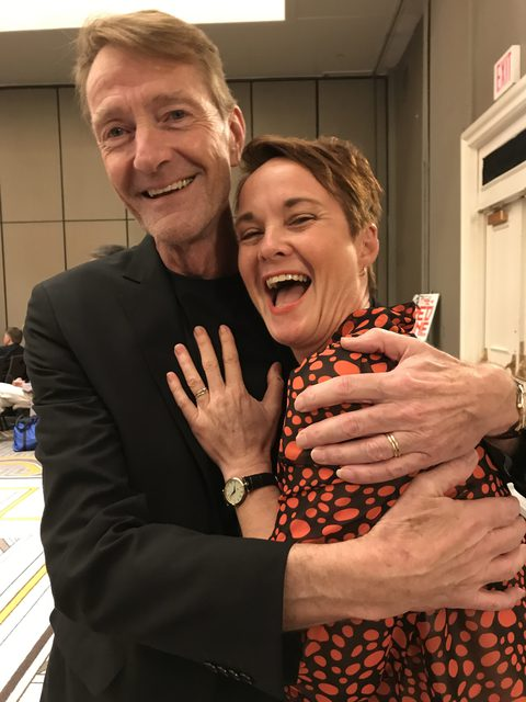 Lee Child and Linda Coles